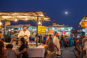 Whether at restaurants or marketplaces, Marrakech offers dishes that are picturesque and tasty.